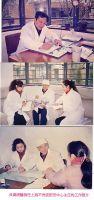 贝教授在上海中医文献馆工作照