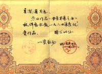 上海卫生报奖状